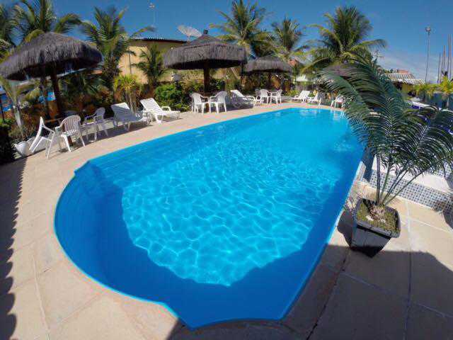 Hotel a 500 m da Praia de Taperapuã.