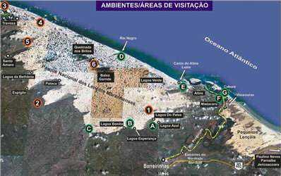 Mapa que permite localizar los principales lugares de visita.